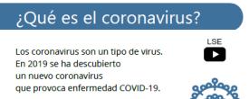 Guías COVID 19 en Lectura Fácil, PDF accesible, y Lengua de Signos